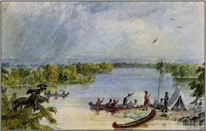 Itasaca Lake by Seth Eastman
