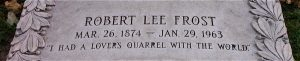Robert Lee Frost Gravestone